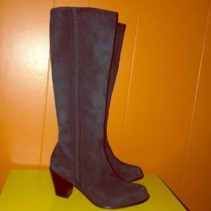 Michael Kors Black Suede Knee High Boots